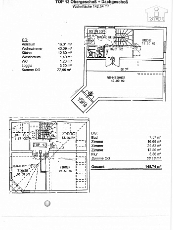 letztes Küche Zimmer - Traumhafte 145m² Maisonettenwohnung - Gartengasse