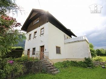 Holzisolierglasfenster Wanderausgangspunkt Autoabstellplätze - Schönes Einfamilienhaus mit Garage im Gailtal