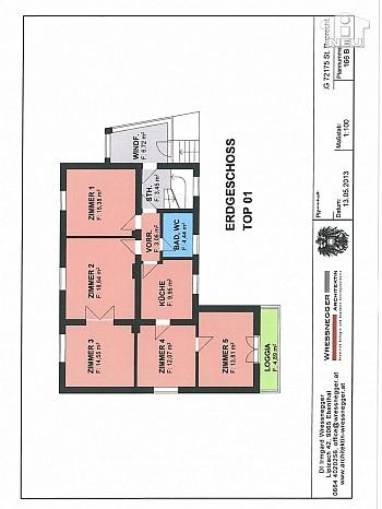 Wohnung flaches Zimmer - 100m² 5 Zi Gartenwohnung in der Seegasse