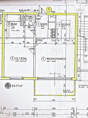 gesamte eigenst Brücke - Helle, freundliche 2-Zi-Wohnung in St. Martin (Anzengruberstraße)