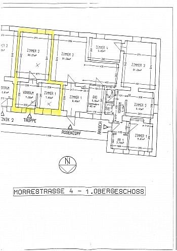 ruhige Altbau Freie - 2 Zi Wohnung in Klagenfurt - Morrestrasse