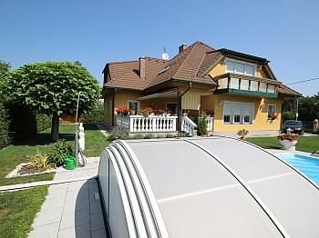 großer Küche Grundstückseinfriedung - Exklusive neuwertige VILLA in Klagenfurt