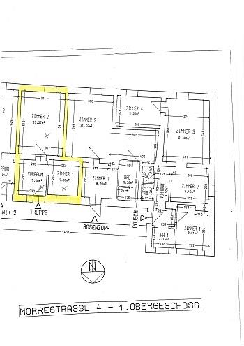 freie Stock Jahre - 2 Zi-Wohnung in der Morrestrasse