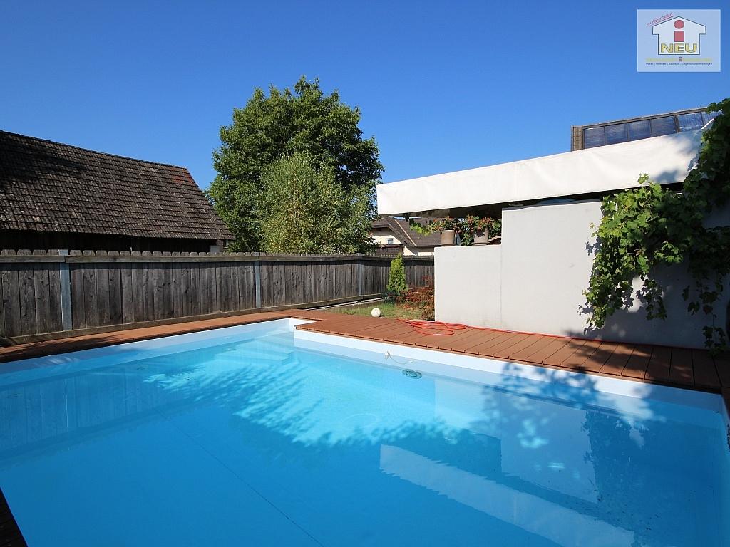 heimeliges einfamilienhaus mit pool in leibsdorf neuhauser immobilien. Black Bedroom Furniture Sets. Home Design Ideas