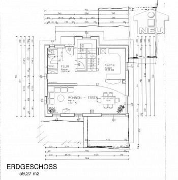 Essbereich IMMOBILIEN NEUHAUSER - AUSSERGERICHTLICHE FEILBIETUNG bis 05.10.07 Wohnhaus in Maria Rain