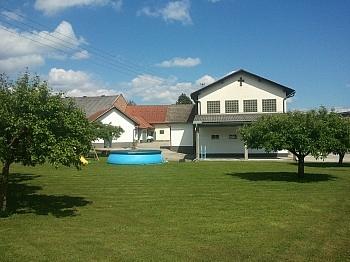 Durchfahrtsmöglichkeit Elektroinstallationen Garagenabstellplätze - Bäuerliches Zweifamilienwohnhaus Ebental