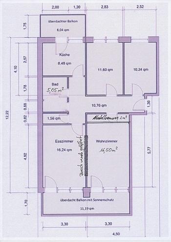 Wohnung Parkett Zentrum - Sonnige 3-Zi-Wohnung mit traumhaftem Fernblick