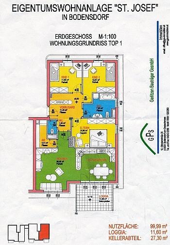 Westlage Geräten weiters - Helle 4-Zi-Eckgartenwohnung am Ossiachersee