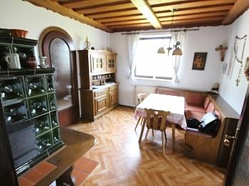 Wohnküche Karawanken Kachelofen - Schöne Doppelhaushäfte in Maria Rain