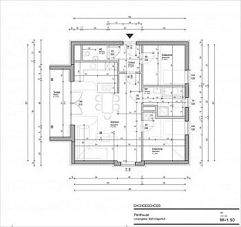 Wohn Lift Ecke - Tolle 90m² 3 Zi Penthousewohnung - Linsengasse