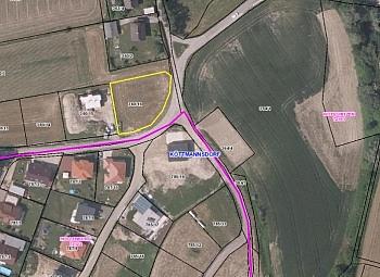 Grundstück Grundgrenze Klagenfurt - Schöne Eckparzelle 1.114m² in Köttmannsdorf-Aich