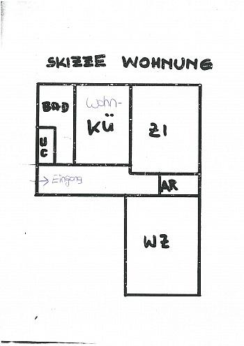 - Helle 2 Zi Wohnung 64m² - Karl-Marx-Strasse