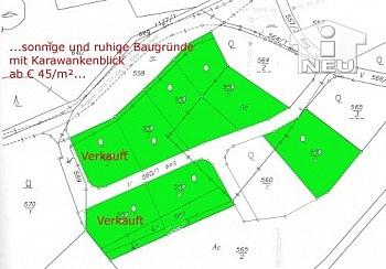 Karawankenblick Baugrundstücke Feldkirchen - Sonnige Baugründe in Micheldorf-Moosburg