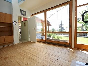 Fensterflächen Galleriebereich Kellergeschoss - Wohnhaus mit Panoramablick in Ludmannsdorf
