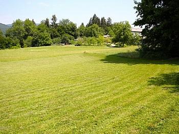 Wasserrechten unmittelbarer durchgehend - Sonniger Baugrund mit Seeblick in Schiefling/Auen