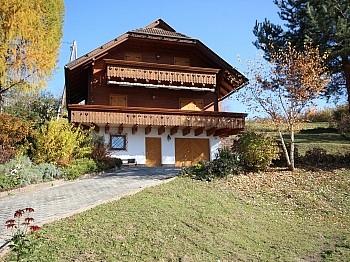 Balkon Untergeschoss Holzblockhaus - Wunderschönes Holzblockhaus Maria Rain/Toppelsdorf