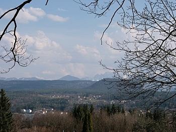 Zentrum Veldner Karawankenpromenade - Velden/Göriach Baugrundstück mit Panoramablick