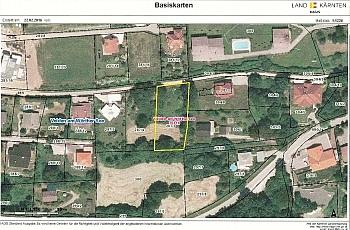 Köstenberger Bebauungsplan Grundstück - Velden/Göriach Baugrundstück mit Panoramablick