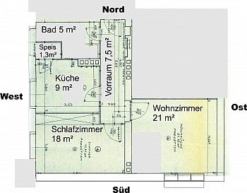 - Günstige, helle 2 Zimmerwohnung nahe Zentrum