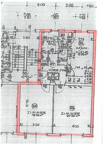 Haustüre bestehend sanierte - Schöne 2 Zi Anlegerwohnung 66m² in der City