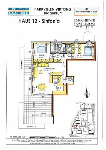 Eurospar Terrasse genützt - 3 Zi Penthouse 90m² mit XXL Terrasse - Viktring