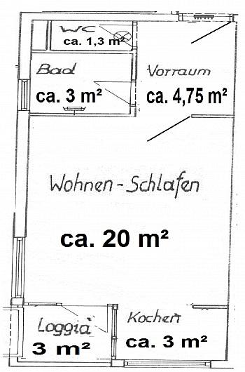- Waidmannsdorf, schöne Garconniere 35m² mit Loggia
