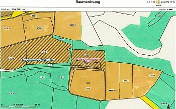 Hanglage entfernt befindet - Baugrundstück mit Seeblick in Sekull/Techelsberg