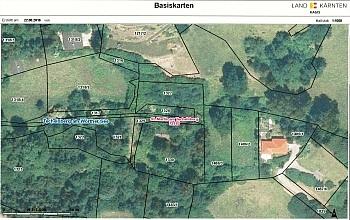 zentrale entfernt Hanglage - Baugrundstück mit Seeblick in Sekull/Techelsberg