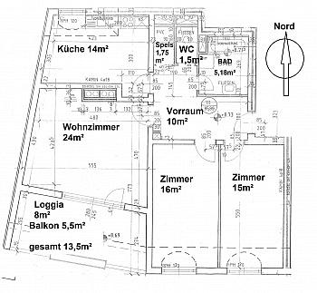- Zentrale 3 Zi Whg. in Waidmannsdorf + Tiefgarage
