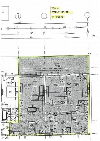 Vorraum offener Gesamt - Traumhafte neue 113m² 4 Zi Penthouse - XL Terrasse