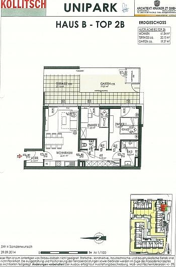 Parteien befinden Wohnbau - Neue 3-Zimmer Whg. mit Eigengarten in Uni Nähe