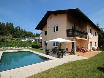 Wohnküche Stahlbeton Vorraum - 230m² Zweifamilienhaus mit Pool in Köttmannsdorf