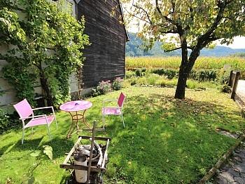 Eigengarten Warmwasser Gartenhaus - 2 Zi Wohnung mit Gartenanteil und Sattnitzzugang