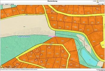 befindet Grundstückgrenze Bauverpflichtung - Grundstück in Hanglage am Kreuzbergl