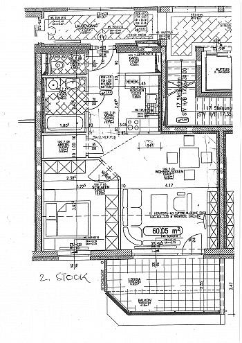 Vorraum mittels Bindung - Neue 2 Zi-Penthousewohnung in Waidmannsdorf