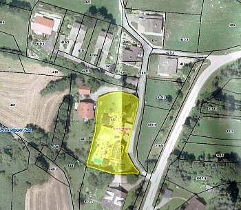 Bauland Gebiet sofort - Mehrfamilienwohnhaus mit Pool Nähe Pressegger See