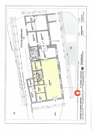 Änderungen Erdgeschoss Ehemaliges - Älteres Wohn- und Geschäftshaus in der Stadt