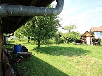 Klappläden Erdgeschoss Holzfenster - Einfamilienhaus sonnig und ruhig in Waidmannsdorf