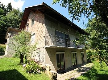 Gesamtgrundstück Flächenangaben Zentralheizung - Älteres 200m² Wohnhaus mit 2,88 Ha Grund in Velden