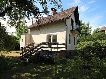 Westterrasse Grundstück Wohnhaus - Haus in Feschnig mit 1.200m² Grund für Handwerker