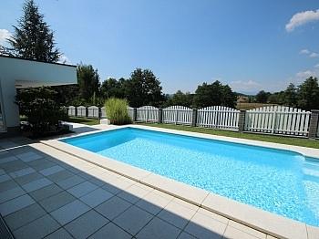Weststerrasse gepflasterter Fliesenböden - 180m² 4 Zi Gartenwhg mit Pool - Georgen am Sandhof