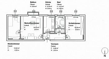 Fliesen Laminat mittels - 3-Zi-Wohnung in der Feldhofgasse inkl. Garagen