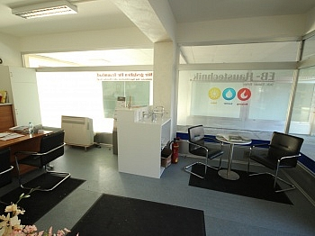 Raumaufteilung Eingangstüre Stellplätze - Geschäftslokal/Büro 29m² in Viktring - Zentrum