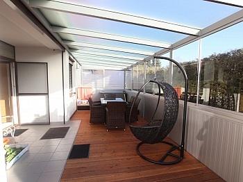 Westloggia Wohnzimmer möblierte - Exclusive 3-Zi-Wohnung in Klagenfurt Nord