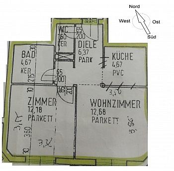Tolle inkl nahe - Anlegerwohnung 2 Zimmer nahe Zentrum, Finanzamt
