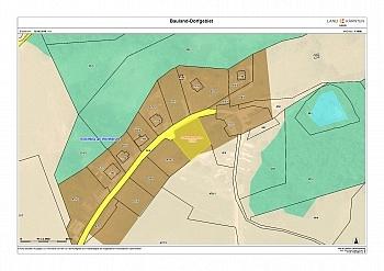 entfernt Lageplan zentrale - Baugrundstück mit Panoramablick in Schiefling