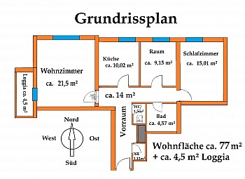 - Waidmannsdorf, tolle 3 Zimmerwohnung Hochparterre
