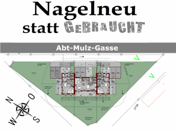 Stiegenaufgang Nebengebäudes Bauausführung - Viktring-hochwertiges-leistbares Mittelreihenh.
