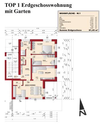 Fachverglasung Zentralheizung Infrastruktur - Schöne neue 4 Zimmer Gartenwohnung in Viktring