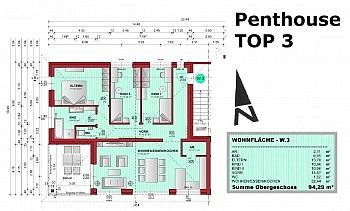 Zentrumsnähe unmittelbarer Fliesenböden - Tolle neue 4 Zimmer Penthouse in Viktring